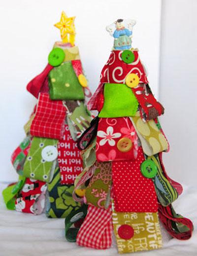 como fazer arvore natal retalhos tecido decoracao casa (1)