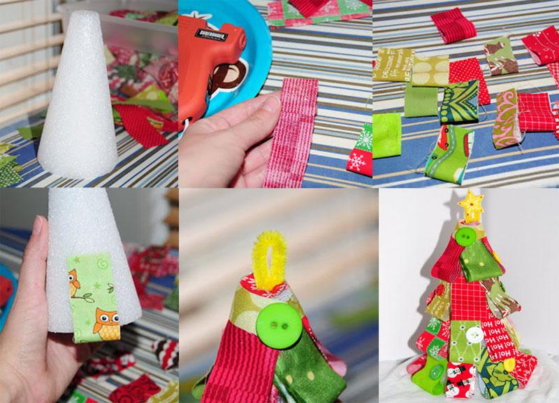 como fazer arvore natal retalhos tecido decoracao casa (2)