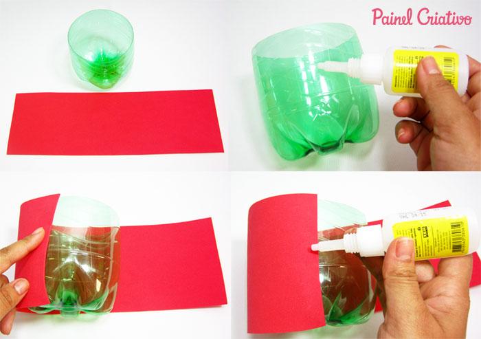 como fazer lembrancinha porta guloseima papai noel garrafa pet natal reciclagem (1)