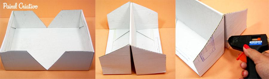 como fazer porta revista livros porta trecos caixa de sapato (1)