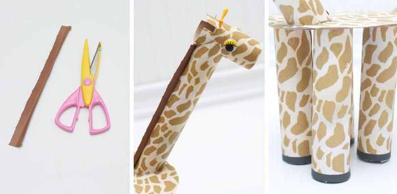 como fazer enfeite mesa aniversario infantil tema zoologico safari girafinha cupcake (7)