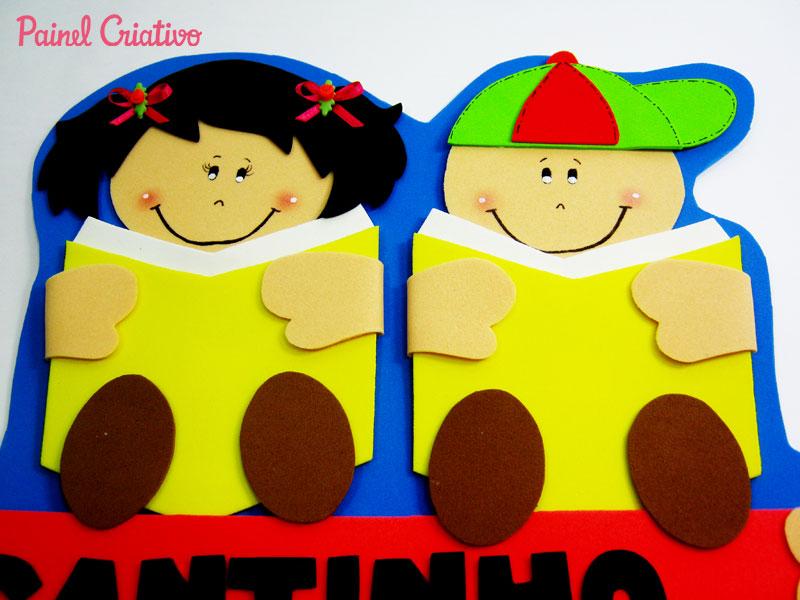 mural plaquinha escolar cantinho leitura alunos aducacao infantil (2)