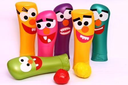 como fazer brinquedo reciclado boliche embalagem shampoo criancas reciclagem sala de aula (1)