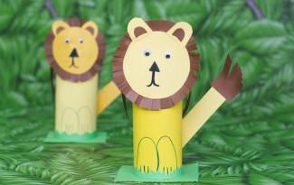como fazer leaozinho caixa de cereal papel atividade alunos sala de aula educacao infantil reciclagem (1)