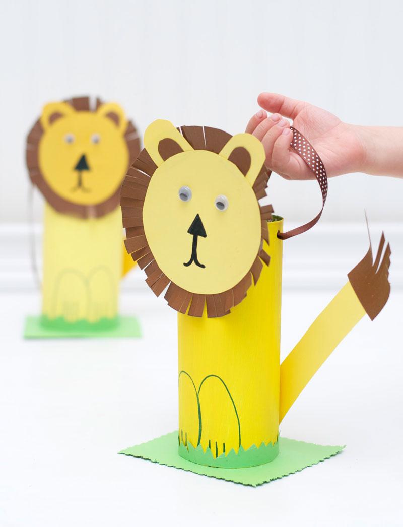 como fazer leaozinho caixa de cereal papel atividade alunos sala de aula educacao infantil reciclagem (5)