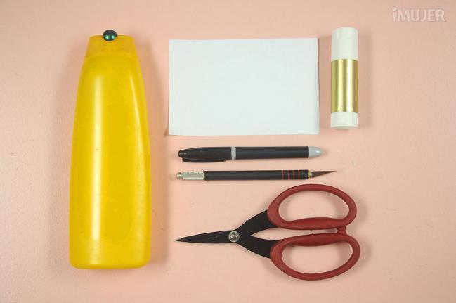 como fazer porta lapis embalagem de shampoo reciclagem alunos atividade escolar (2)