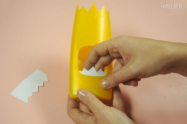 como fazer porta lapis embalagem de shampoo reciclagem alunos atividade escolar (7)