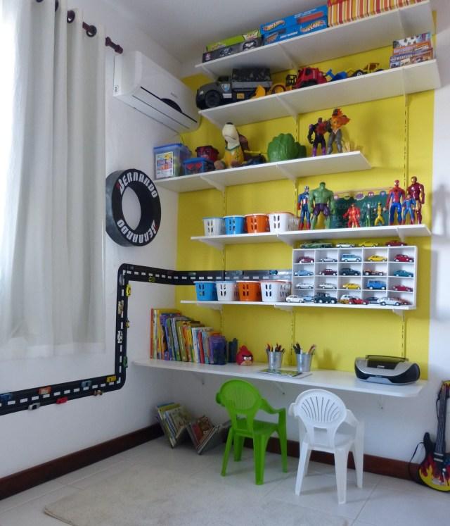 decoracao quarto menino casa desenho super herois carros  (4)