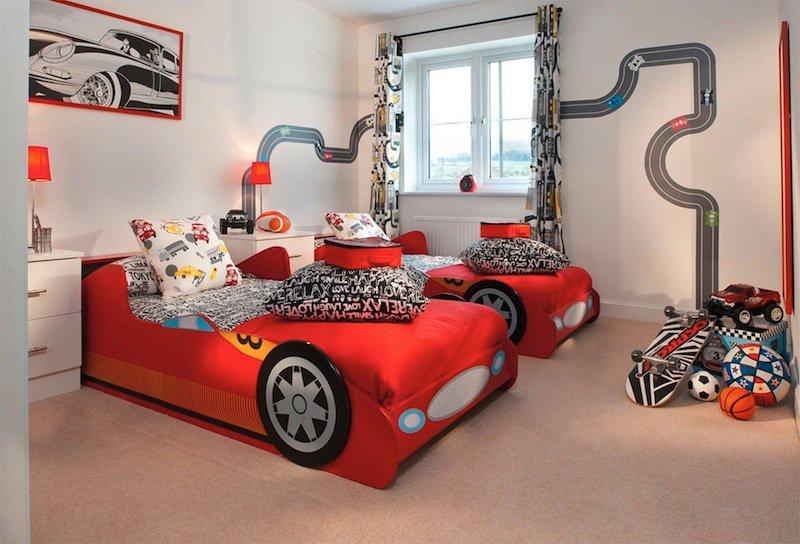 decoracao quarto menino casa desenho super herois carros  (6)