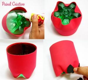 passo a passo lembrancinha pascoa garrafa pet coelhinho eva reciclagem escola criancas porta guloseimas bombons (6)