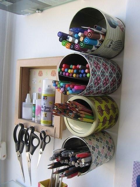 12 ideias truques organizacao casa porta lapis latinha  (1)