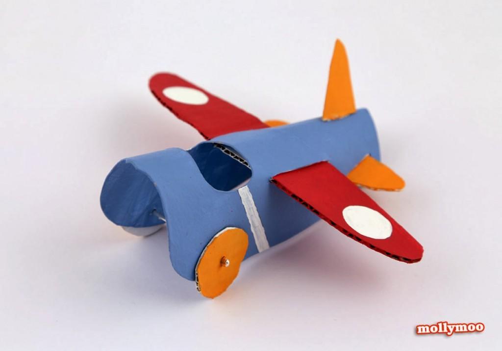 como fazer brinquedo reciclado aviaozinho rolinho papel higienico criancada brincar sala de aula  (2)