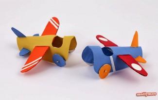 como fazer brinquedo reciclado aviaozinho rolinho papel higienico criancada brincar sala de aula  (4)