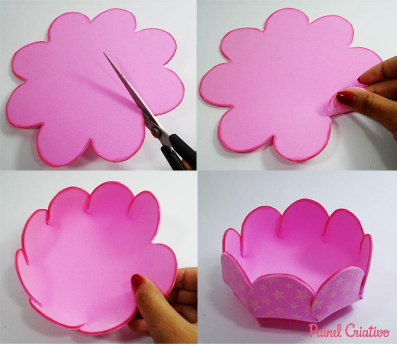 passo a passo cestinha formato flor lembrancinha enfeite mesa festa aniversario infantil menina eva porta guloseimas dia das maes (2)
