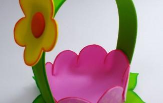 passo a passo cestinha formato flor lembrancinha enfeite mesa festa aniversario infantil menina eva porta guloseimas dia das maes (6)