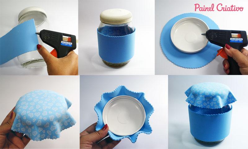 como fazer pote vidro decorado eva cozinha corujinha (1)