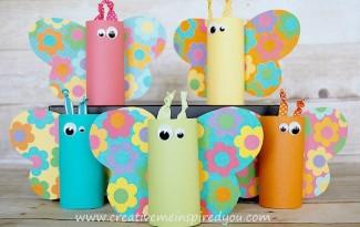 passo a passo reciclagem borboletinha rolinho papel higienico sobras papel colorido atividade sala de aula criancas (1)