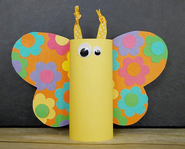 passo a passo reciclagem borboletinha rolinho papel higienico sobras papel colorido atividade sala de aula criancas (8)