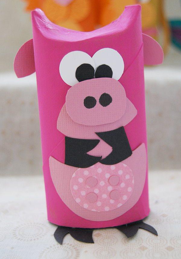 como fazer bichinhos rolinho papel higienico reciclagem sala de aula criancas brinquedo reciclado (5)