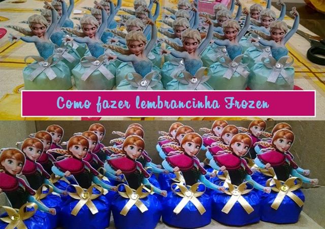 video como fazer lembracinha aniversario do frozen princesa elsa