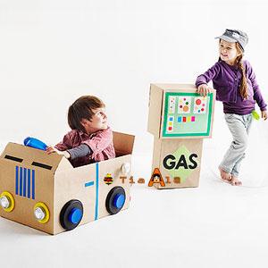 12 ideias brinquedos feitos caixa papelao reciclagem atividade criancas brincar em casa (1)
