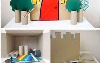 12 ideias brinquedos feitos caixa papelao reciclagem atividade criancas brincar em casa (11)