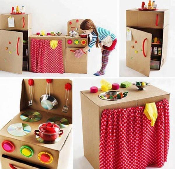 12 ideias brinquedos feitos caixa papelao reciclagem atividade criancas brincar em casa (9)