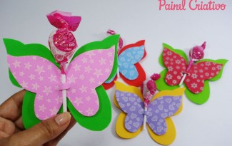 como fazer lembrncinha EVA borboletinha porta pirulito dia das criancas volta as aulas festa aniversario infantil (1)