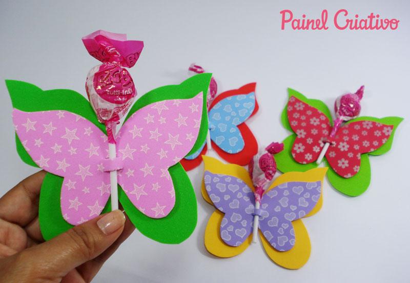 ideias de jardim para criancas:Arte de Educar: Lembrancinha da Borboletinha em EVA para o Dia das