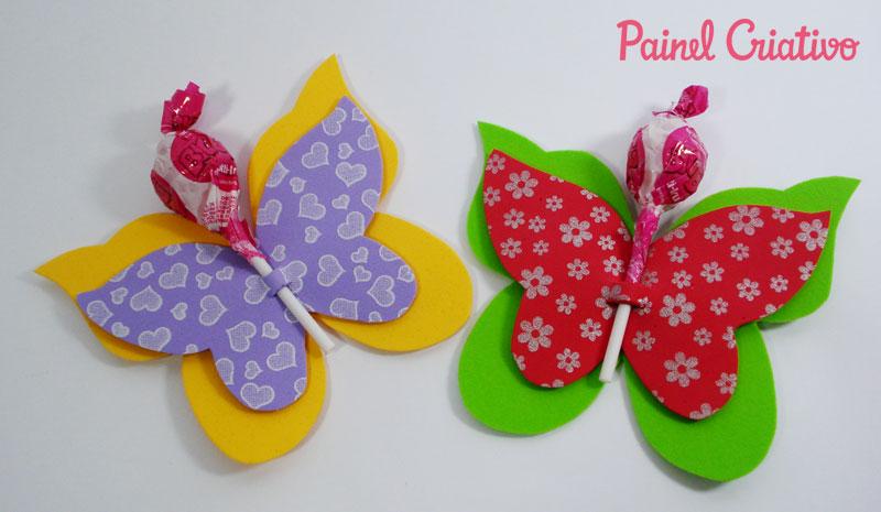como fazer lembrncinha EVA borboletinha porta pirulito dia das criancas volta as aulas festa aniversario infantil (3)