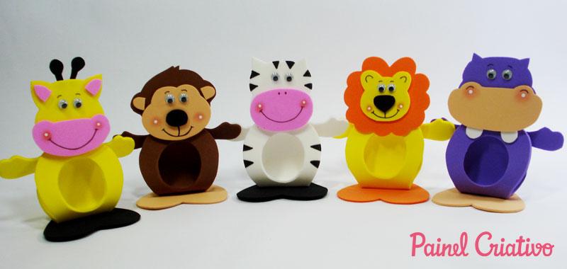 faca voce mesmo lembrancinha porta bombom dos bichinhos em EVA dia das criancas volta as aulas aniversario safari (1)