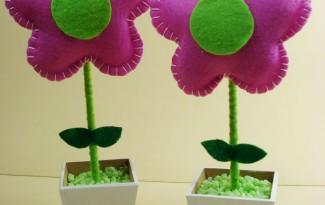 faca voce mesmo passo a passo flor feltro vasinho d flor lembrancinha aniversario maternidade dia das maes dia dos professores  (3)