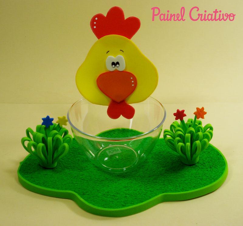 como fazer enfeite de mesa EVA festa aniversario fazendinha criancas galinha vaquinha (1)
