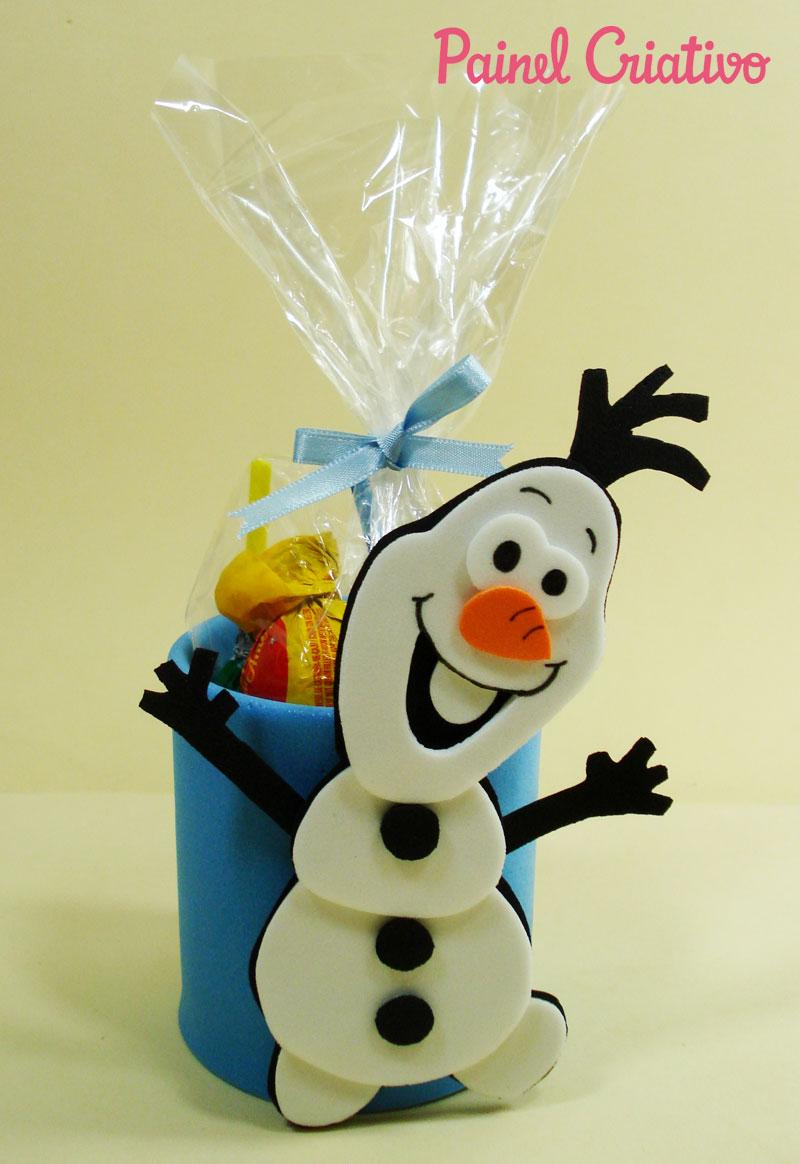 como fazer lembrancinha aniversario frozem  boneco Olaf porta guloseima EVA e latinha criancas festinha infantil (3)