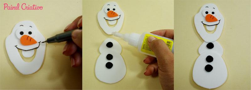 como fazer lembrancinha aniversario frozem  boneco Olaf porta guloseima EVA e latinha criancas festinha infantil (7)