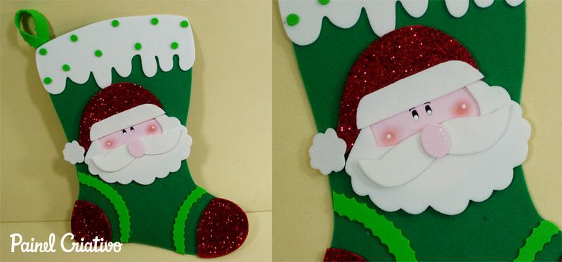 enfeite natal bota papai noel EVA decoracao natalina casa sala de aula escola (2)