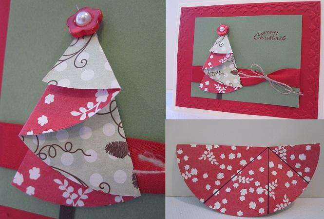 sete modelos cartao natal artesanal presentear amigos familiares papel scrapbook cartolina (2)