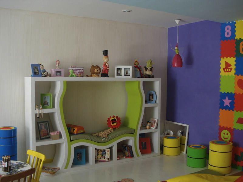 modelos brinquedoteca crianca cantinho leitura quarto decoracao 5