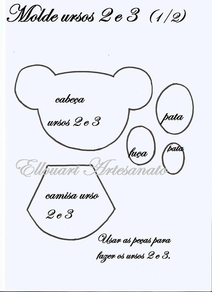 Moldes De Ursinhos Em Eva Painel Criativo