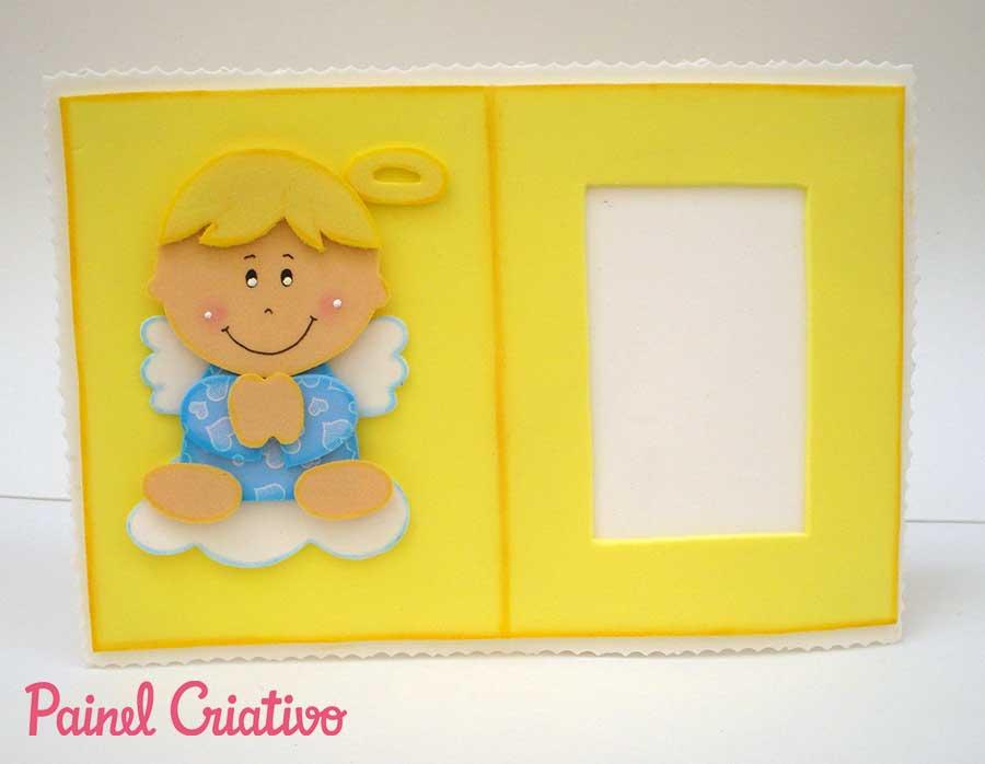 Lembrancinha porta retrato anjinho EVA decoracao quarto criancas 7