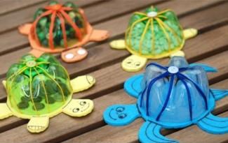 como fazer brinquedo reciclado tartaruguinha garrafa pet eva criancas 6