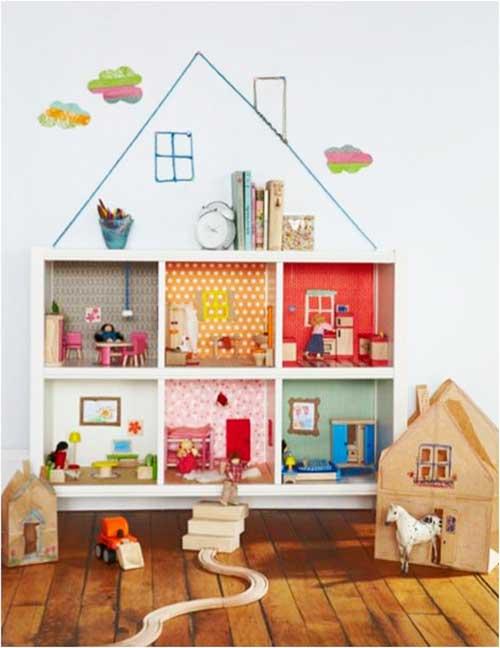 10 ideias criativas decoracao quarto menininas casinha de bonecas 6