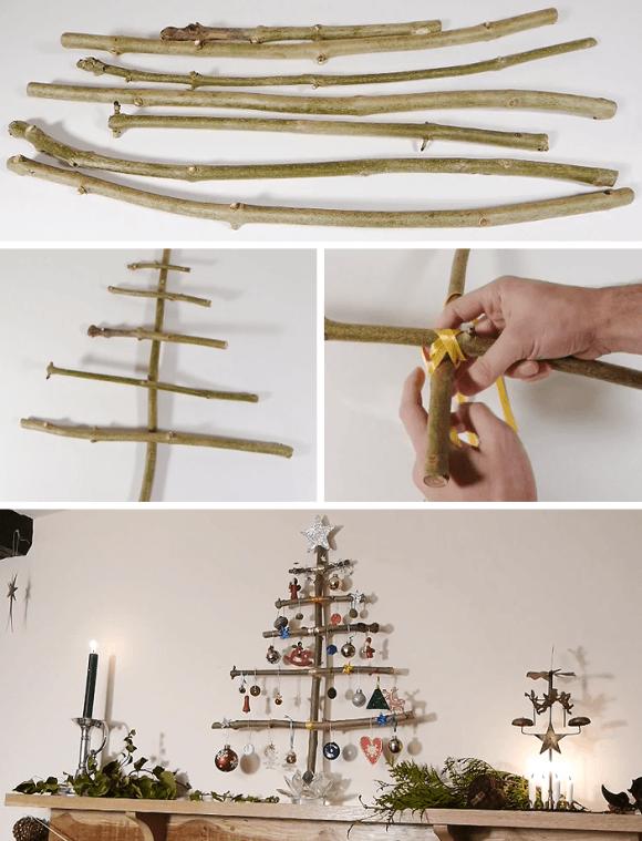 8 ideias criativas mini arvore natal decoracao casa artesanato painel criativo 5
