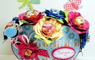 como fazer lembrancinha flor de papel porta pirulito dia das criancas dia maes dia professores decoracao festa aniversario mesa de doces (1)