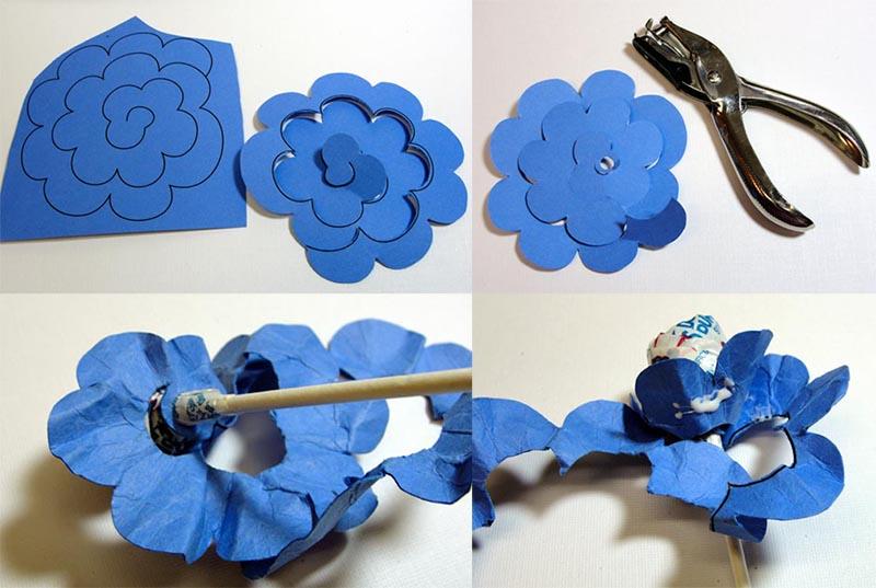 como fazer lembrancinha flor de papel porta pirulito dia das criancas dia maes dia professores decoracao festa aniversario mesa de doces (7)