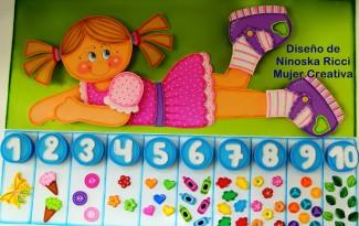 decoracao sala de aula painel menininha numeros EVA escola educacao infantil (1)
