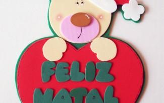 enfeite natal EVA ursinho decoracao casa sala de aula artsanato painel criativo 3