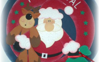 guirlanda papai noel EVA decoracao casa sala de aula artesanato natalino 1