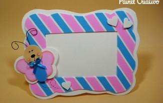 modelo porta retrato borboletinha EVA decoracao quarto menina artesanato painel criativo (1)