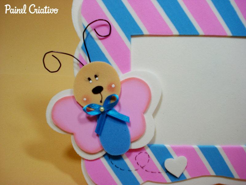 modelo porta retrato borboletinha EVA decoracao quarto menina artesanato painel criativo (2)